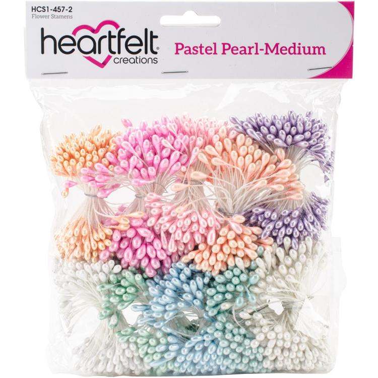 Heartfelt Creations - Pearl Stamens - Medium Pearl 5mm X 2.25""