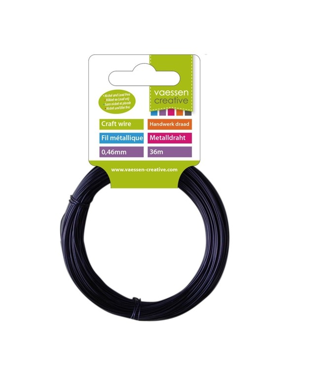 Vaessen Creative - Craft Wire Black - (36 mtr / 0.88 mm)