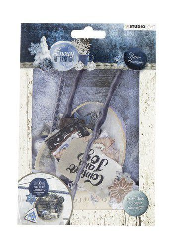 Studio Light - Die Cut Paper Set - Snowy Afternoon EASYSA656