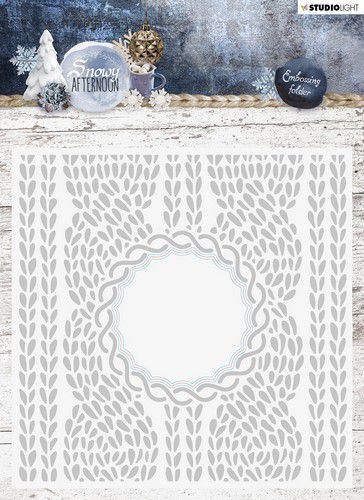 Studio Light - Snowy Afternoon - Embossing Folder With Die Cut EMBSA01