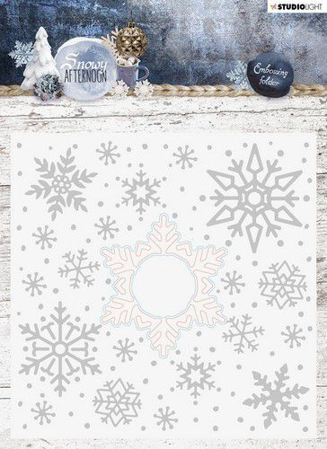 Studio Light - Snowy Afternoon - Embossing Folder With Die Cut EMBSA02