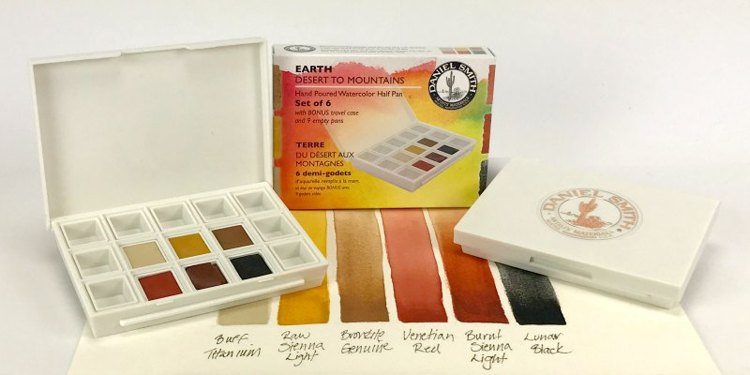 Daniel Smith Watercolor - Set of 6 - Earth (Desert to the Mountains)
