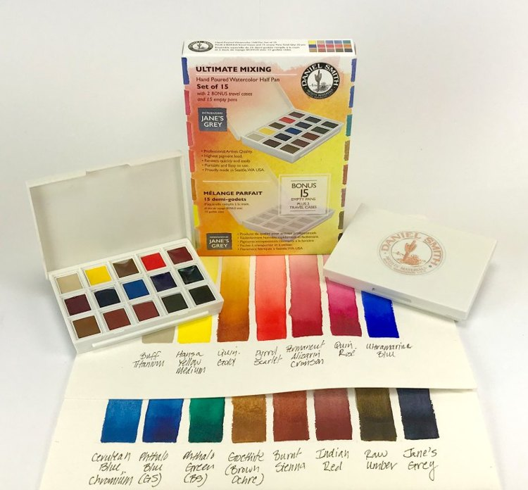 Daniel Smith Watercolor - Set of 15 - Ultimate Mixing Set