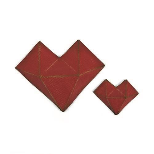 Sizzix - Thinlits Die Set - 2PK Faceted Heart