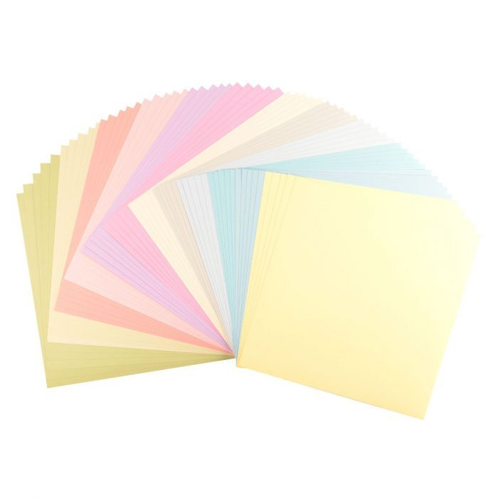 Florence Cardstock - Smooth (glad) 216 gr) - Collection kit Pastel (12x5vel)