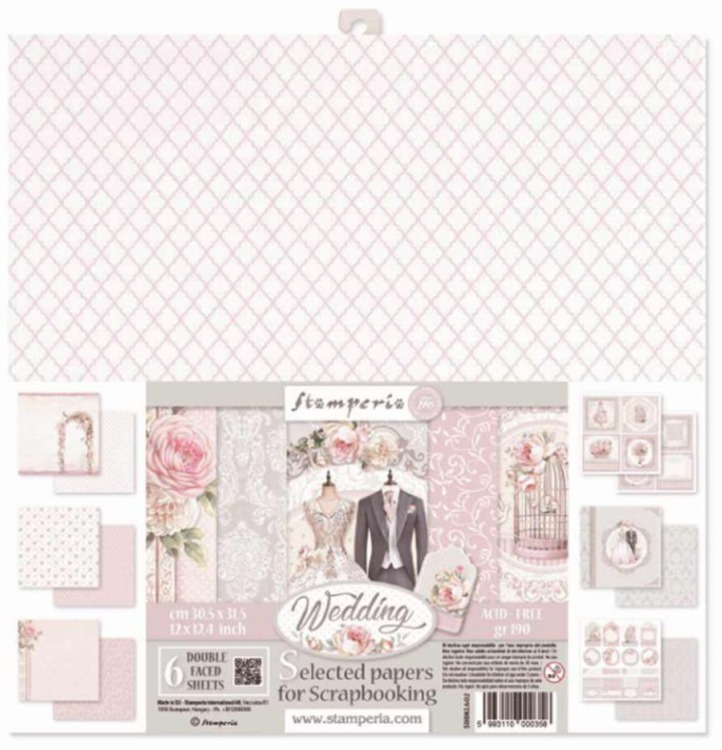 Stamperia - Paperpad - Assortiment Wedding