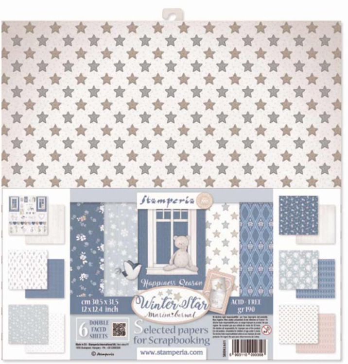 Stamperia - Paperpad - Assortiment Winter Star