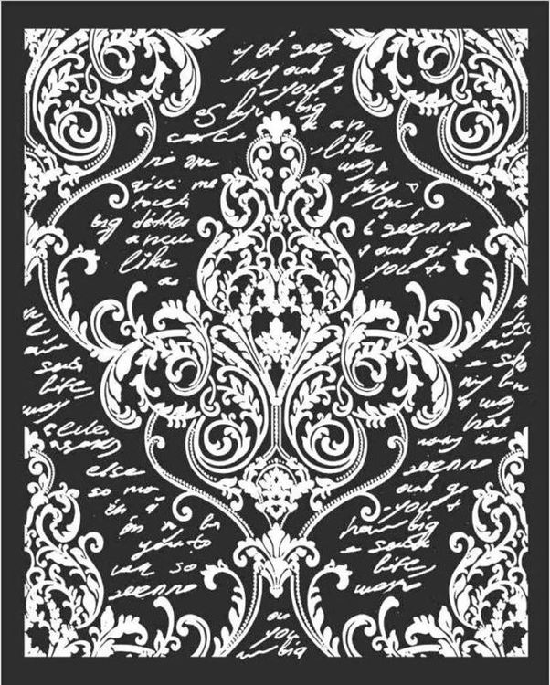 Stamperia - Thick Mixed Media Stencil  - Decoration with writings