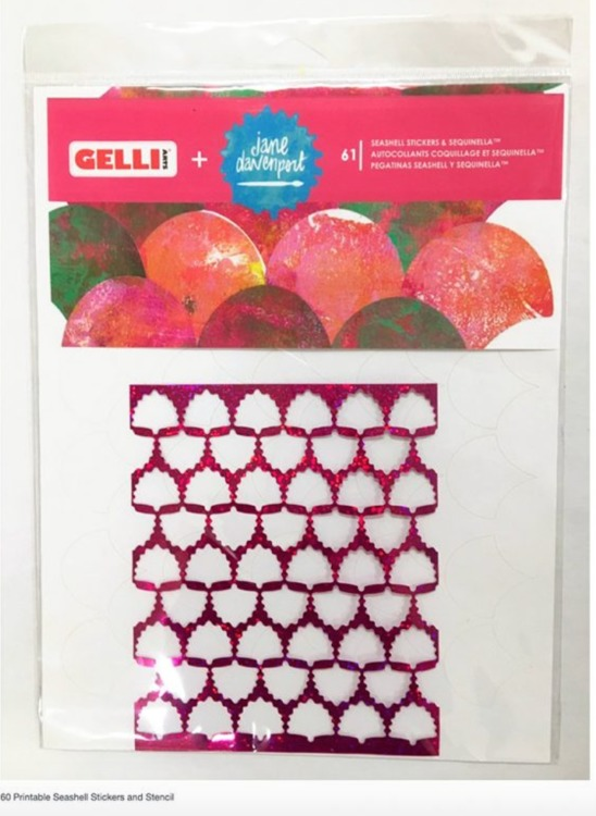 Gelli Arts - Jane Davenport - 60 Printable Seashell Stickers