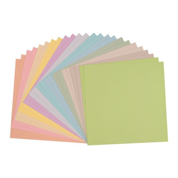 Florence Cardstock - Canvas Texture - Pastel assortie