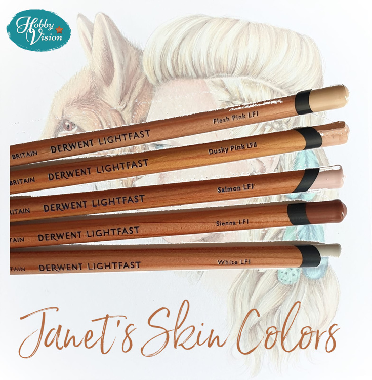 Derwent Lightfast - Janet's Skin Colors