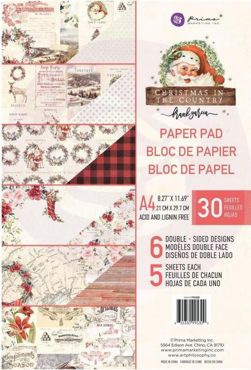 Prima Marketing - Christmas in the Country - Paperpad A4