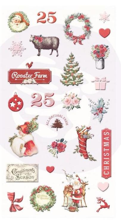 Prima Marketing - Christmas in the Country - Puffy Stickers 27pcs