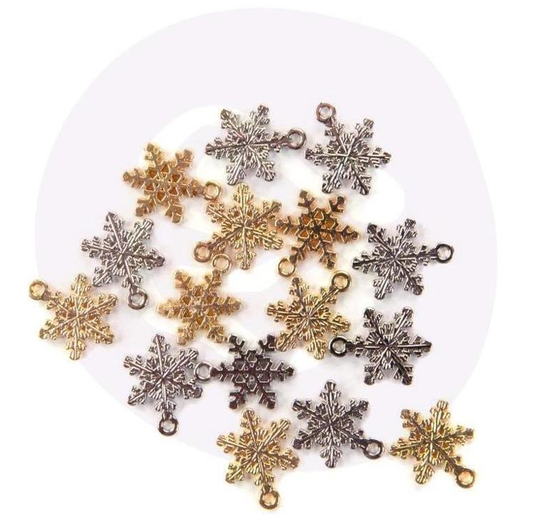 Prima Marketing - Christmas in the Country - Snowflake Metal Charms (16pcs)