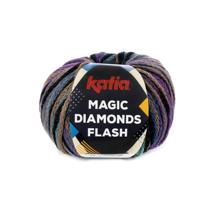 Breiwol Katia - Magic Diamonds Flash - Kleur 100