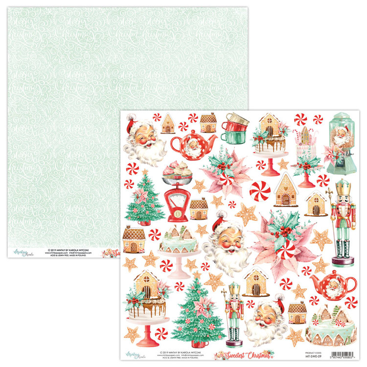 Scrappapier Mintay Papers - The Sweetest Christmas - TSC-09