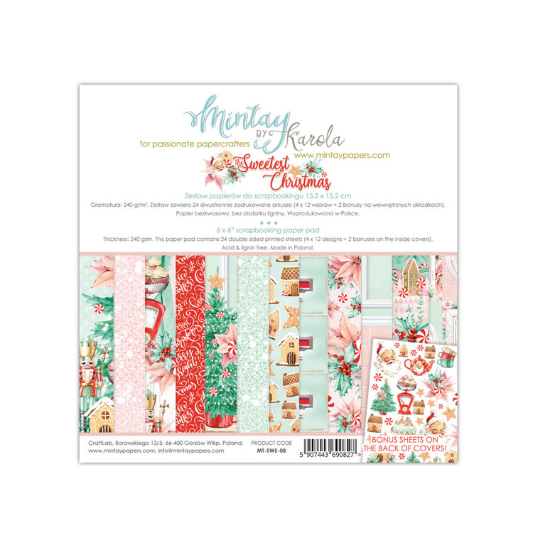 Paperpad Mintay - The Sweetest Christmas 15,2 x 15,2 cm - MT-SWE-08