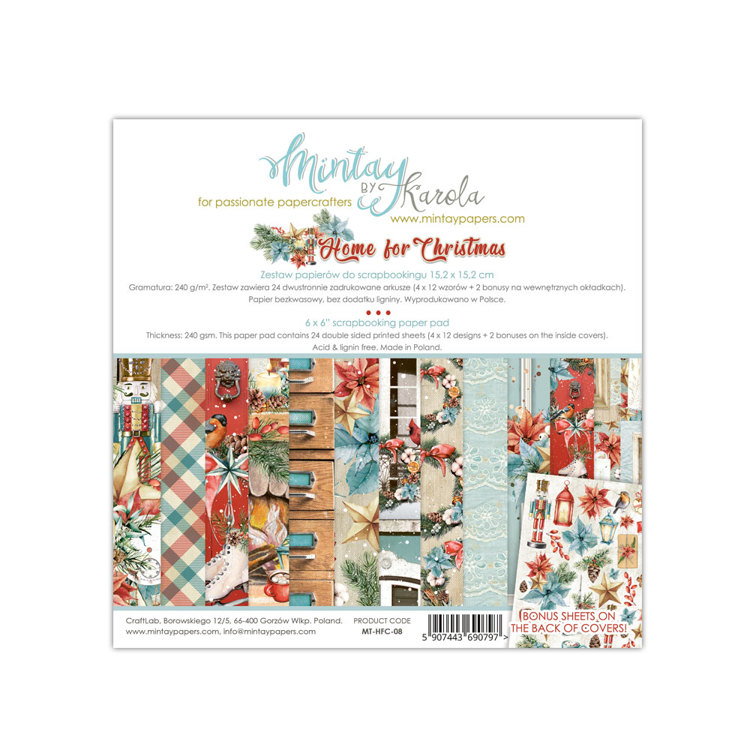 Paperpad Mintay - Home for Christmas 15,2 x 15,2 cm - MT-HFC-08