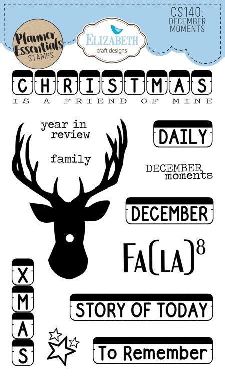 Elizabeth Craft Designs - Clearstamps - December Moments