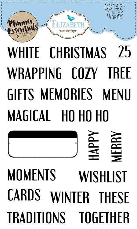 Elizabeth Craft Designs - Clearstamps - Winter Words