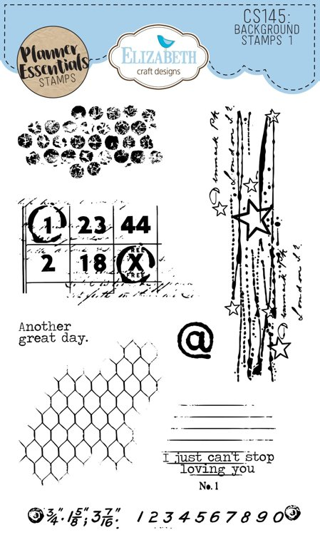Elizabeth Craft Designs - Clearstamps - `Background Stamps 1