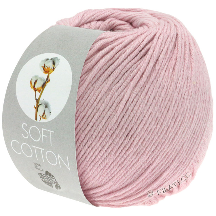Breiwol Lana Grossa - Soft Cotton - Kleur rose 6