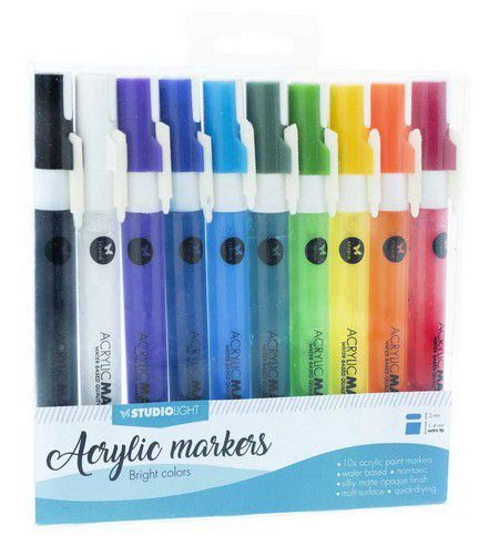 Studio Light - Acrylic Markers Box 10 st - Bright Colors (AMSL01)