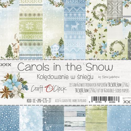 Craft-O-Clock - Paperpad 30,5 x 30,5 cm - Carols in the Snow