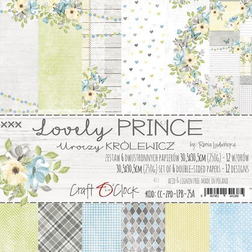 Craft-O-Clock - Paperpad 30,5 x 30,5 cm - Lovely Prince