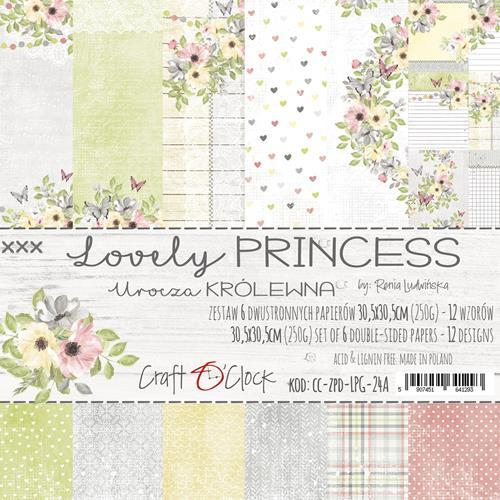 Craft-O-Clock - Paperpad 30,5 x 30,5 cm - Lovely Princess