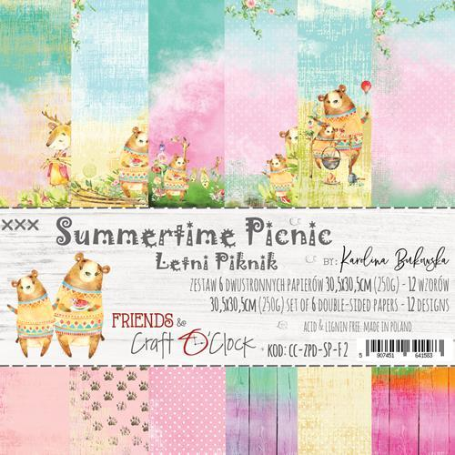 Craft-O-Clock - Paperpad 30,5 x 30,5 cm - Summertime Picnic