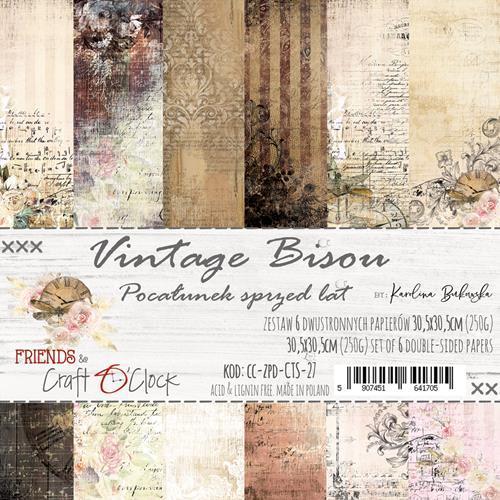 Craft-O-Clock - Paperpad 30,5 x 30,5 cm - Vintage Bisou