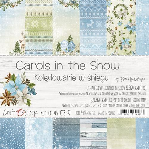 Craft-O-Clock - Paperpad 20,3 x 20,3 cm - Carols in the Snow