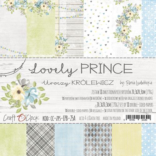 Craft-O-Clock - Paperpad 20,3 x 20,3 cm - Lovely Prince