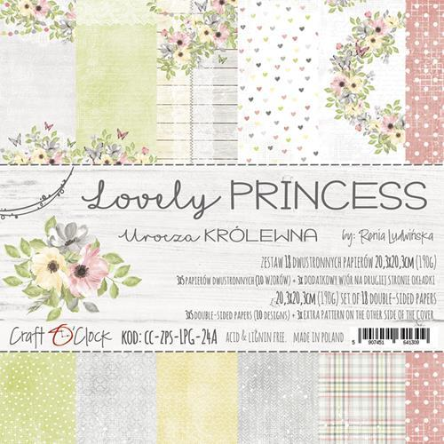 Craft-O-Clock - Paperpad 20,3 x 20,3 cm - Lovely Princess