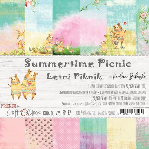 Craft-O-Clock - Paperpad 20,3 x 20,3 cm - Summertime Picnic