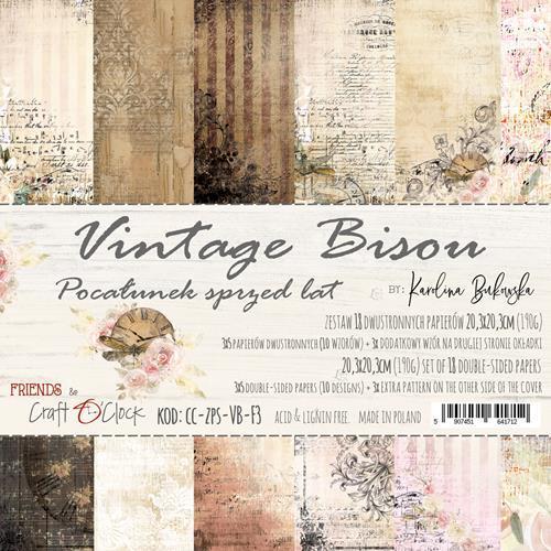 Craft-O-Clock - Paperpad 20,3 x 20,3 cm - Vintage Bisou