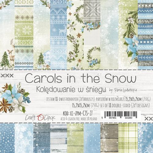 Craft-O-Clock - Paperpad 15,2 x 15,2 cm - Carols in the Snow