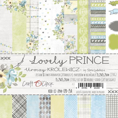 Craft-O-Clock - Paperpad 15,2 x 15,2 cm - Lovely Prince