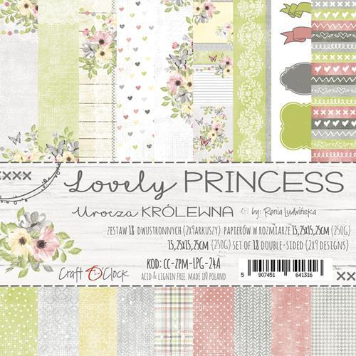Craft-O-Clock - Paperpad 15,2 x 15,2 cm - Lovely Princess