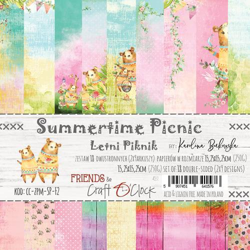Craft-O-Clock - Paperpad 15,2 x 15,2 cm - Summertime Picnic
