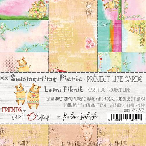 Craft-O-Clock - Set of Project Life Cards - Summertime Picnic