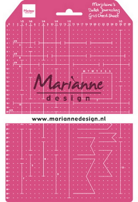 Marianne Design - Marjoleine's Bullet Journal Grid Cheat Sheet