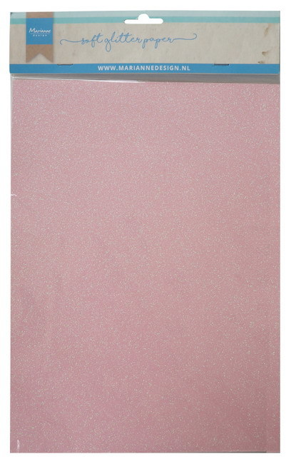 Marianne Design - Glitter Paper A4 - Light Pink