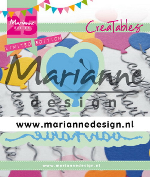 Marianne Design - Creatable - Van Harte & ballon - 25th anniversary