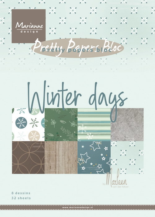 Marianne Design - Paperpad A5 - Winterdays by Marleen
