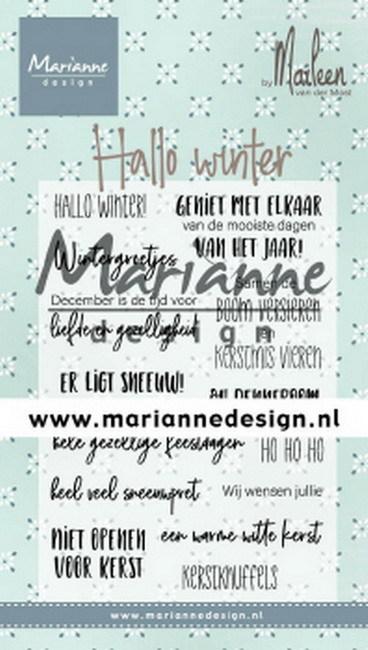 Marianne Design - Clearstamp - Hallo Winter by Marleen