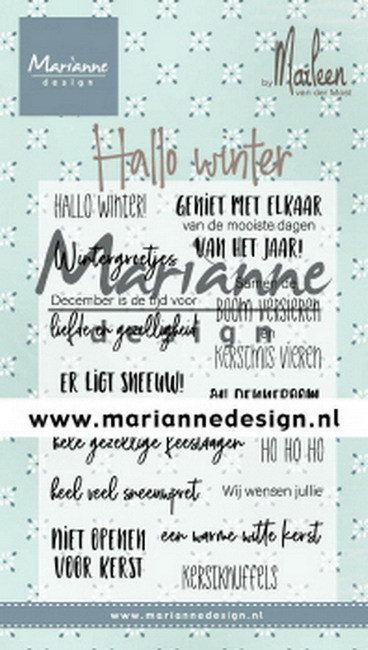 Marianne Design - Clearstamp - Hallo Winter by Marleen
