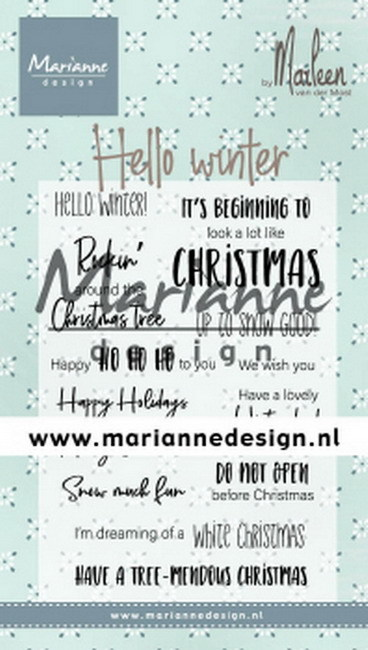 Marianne Design - Clearstamp - Hello Winter by Marleen (ENG)