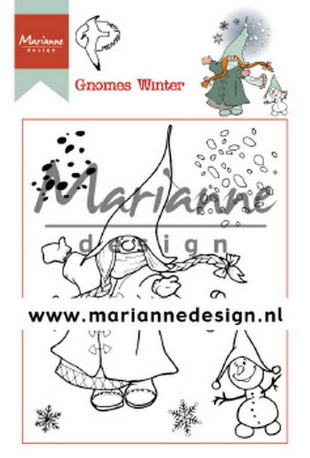 Marianne Design - Clearstamp - Hetty's Gnomes Winter